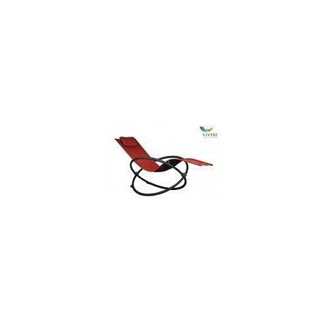 Vivere - Orbital Lounger Single  Cherry Red