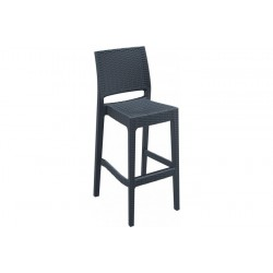 SIESTA EXCLUSIVE; Barová židle JAMAICA šedá