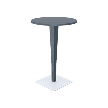 SIESTA EXCLUSIVE; Barový stůl RIVA šedý