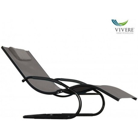 Vivere - Wave Lounger Black Chrome (with frame)