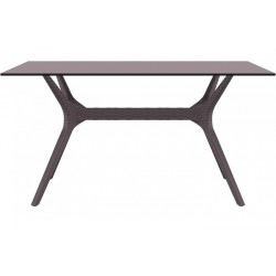 SIESTA EXCLUSIVE Stůl IBIZA 140 hnědý