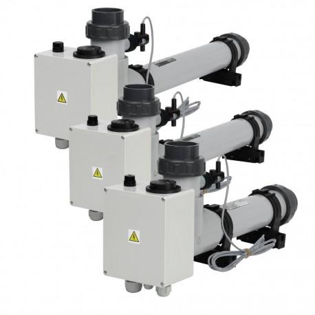 Topení EOVp-12, 12 kW, 400 V, plast s el. průtokovou klapkou