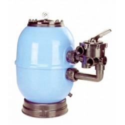Filtrační nádoba Lisboa 750 mm, průtok 21 m3/h, boční ventil