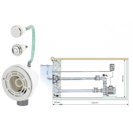 Protiproud VAG-JET Nerez pro předvyr. baz. - 66 m3/h, 230 V, 2,2 kW