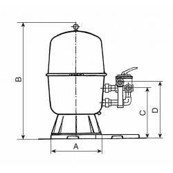Filtr.nádoba 600, 14 m3/h