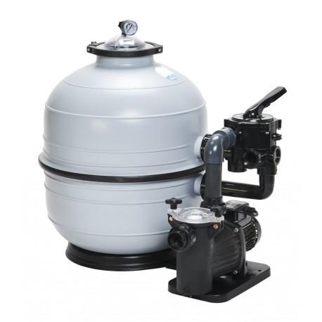 Filtrační zařízení - KIT MIDI 400, 9 m3/h, 230 V, 6-ti cest. boč. ventil, čerp. Preva